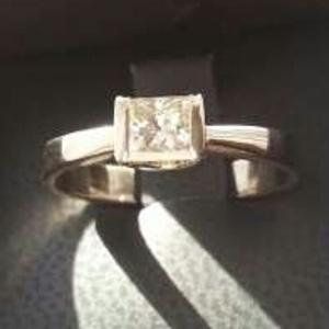 Бриллиант 0.5 карат кольцо классика новое