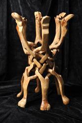 Необычная старинная складная изделие из высококачественного дерева